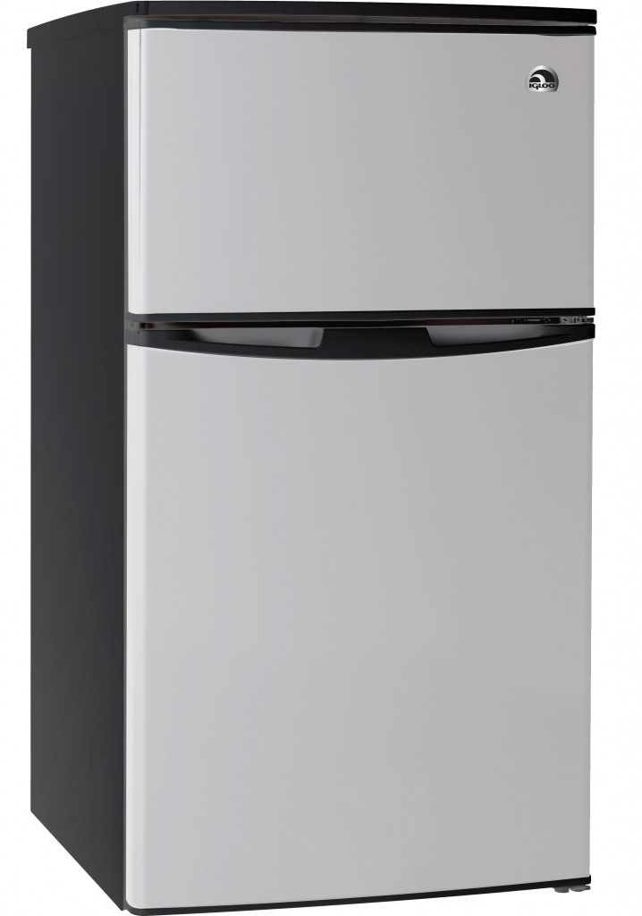 3.2 CU FT  COMPACT FRIDGE STAINLESS STEEL DESIGN DOOR -2 DOOR